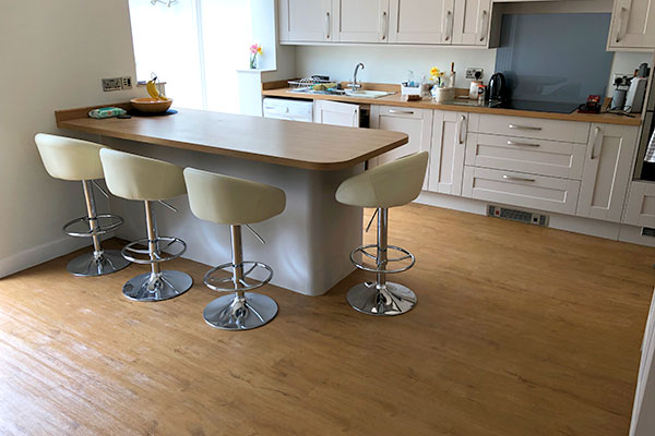 Red Flooring Designs wooden kitchen floor 03