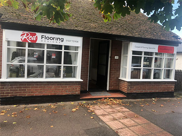 red flooring designs wingham shop exterior